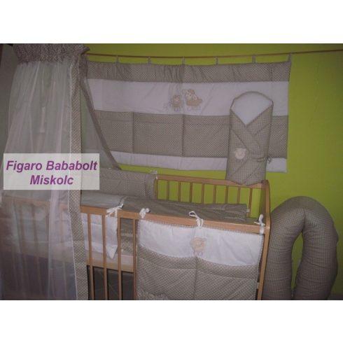 """4 részes bébi ágynemű garnitúra muszlin függönnyel """"Provance bárány"""""""