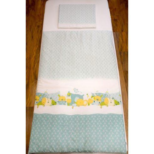 Pihe- Zöld alvó állatok gyermek-, ovis ágynemű