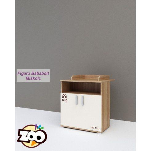 Todi ZOO 2 ajtós pelenkázó komód (toldalékkal)