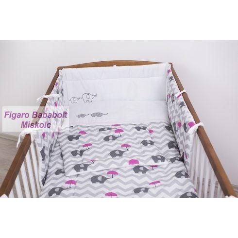 """3 részes ágynemű szett """"Esernyős elefánt rózsaszín"""""""