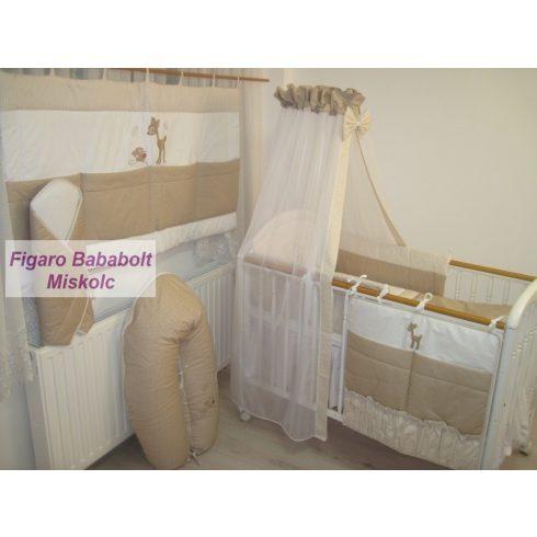 """4 részes bébi ágynemű garnitúra muszlin függönnyel """"Bambi"""""""